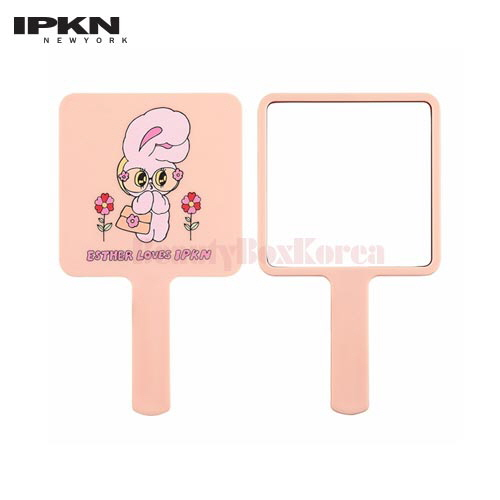IPKN Square Mini Hand Mirror 1ea [ESTHER LOVES YOU Edition]
